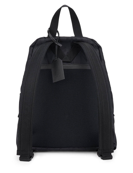 Men's Valentino VLTN TIMES Nylon Jacquard Backpack in Black - VY2B0A60ACFN01