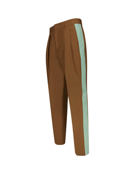 Men's Brown and Green Valentino Balloon Trousers TV0RBE4566589M