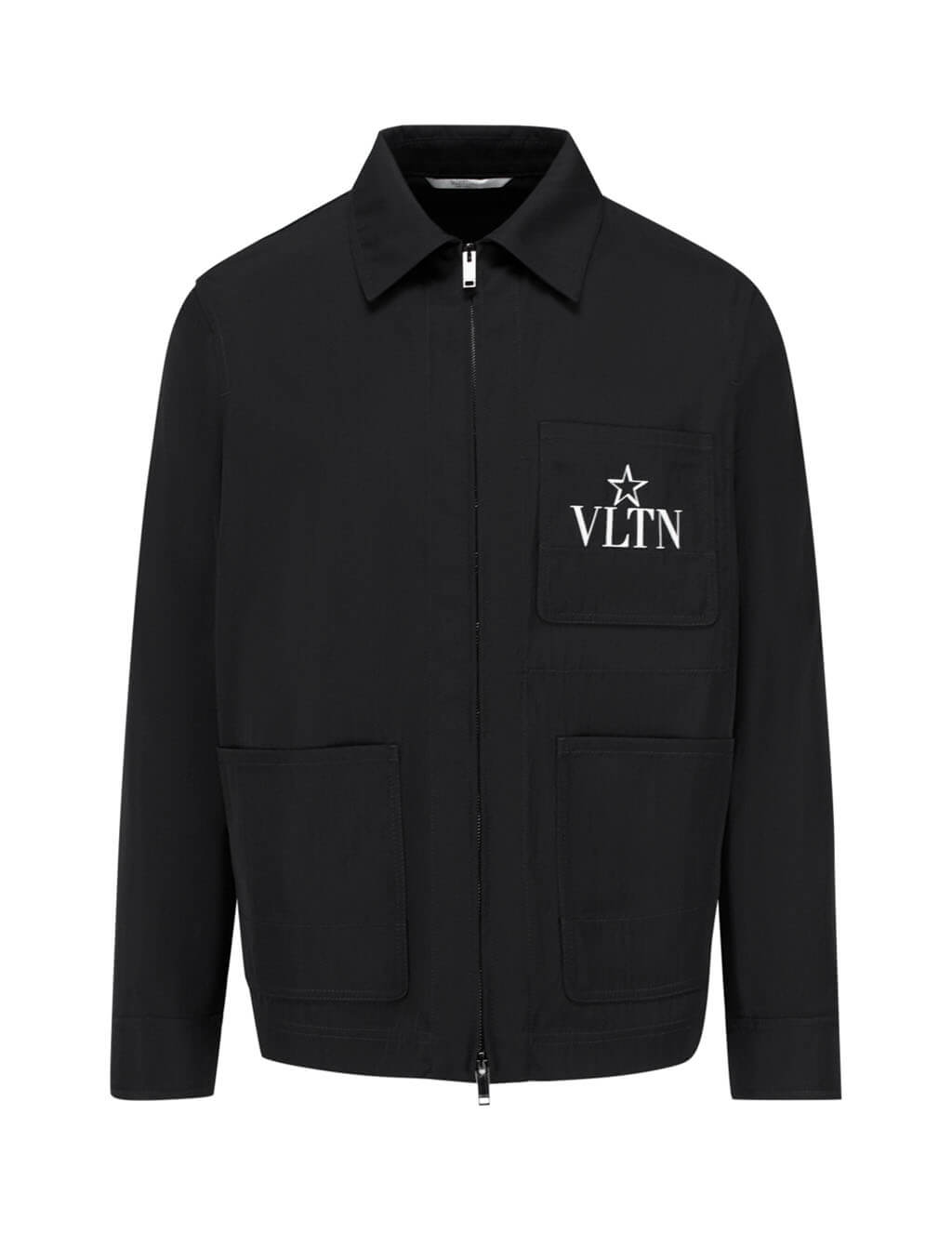 Valentino Men's Giulio Fashion Black Caban Star Coat TV3CJC955VR 0NI