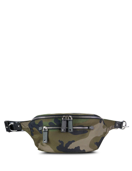 Valentino Men's Camo VLTN Belt Bag Army Green sy2b0664ygsy25