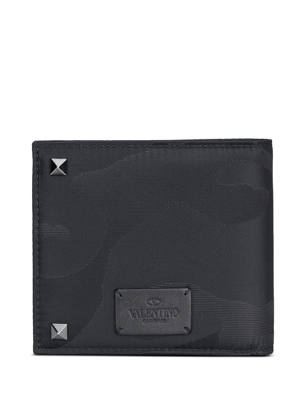 Valentino Men's Giulio Fashion Black Camouflage Billfold Wallet NY2P0654NAI0NO