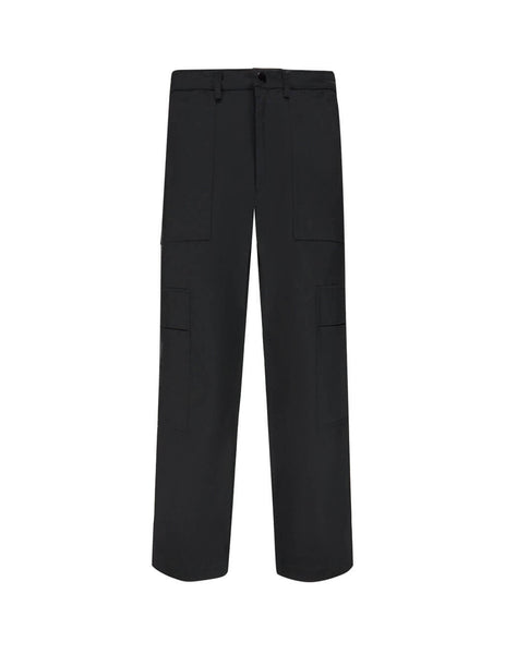 Valentino Men's Giulio Fashion Black Cargo Trousers SV0REA655LA0NO