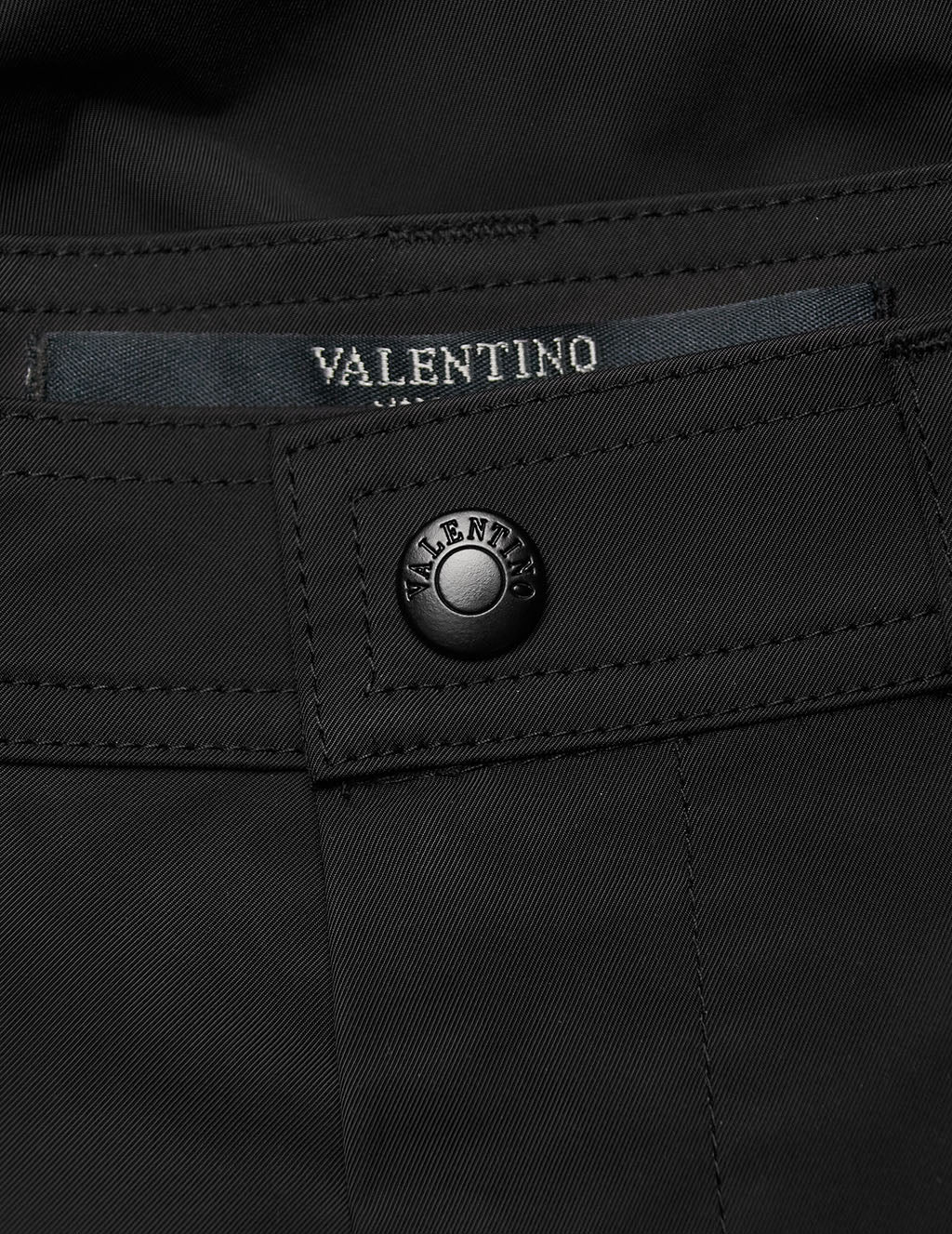 Valentino Men's Giulio Fashion Black Cargo Trousers TV3REA90CKV0NO