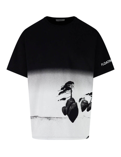 Valentino Men's Giulio Fashion Black Floating Island T-Shirt TV0MG06J68Y 99M