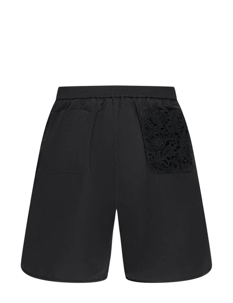 Men's Valentino Floral Embroidered Swim Shorts in Black - VV0RDB307BR0NO