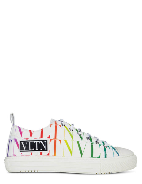 Men's Valentino Giggies Low Top Sneakers in White - VY2S0D57WEF08V