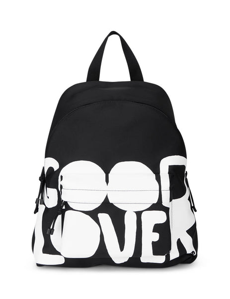 Valentino Men's Black Lovers Language Backpack UY0B0993QYU0NI
