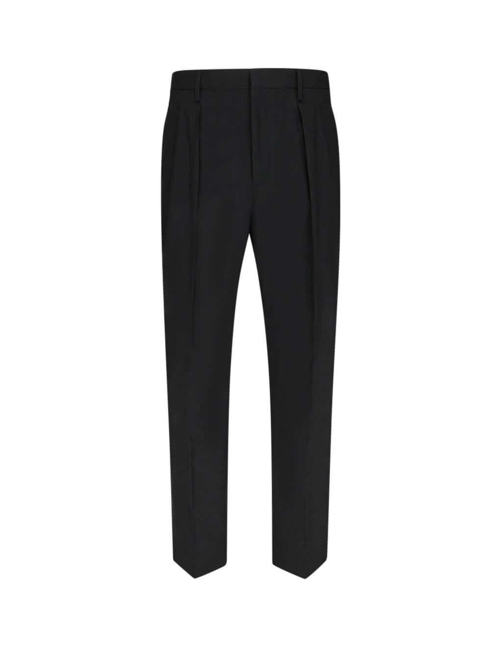 Men's Black Valentino Pleated Trousers TV0RGB304WW0NO