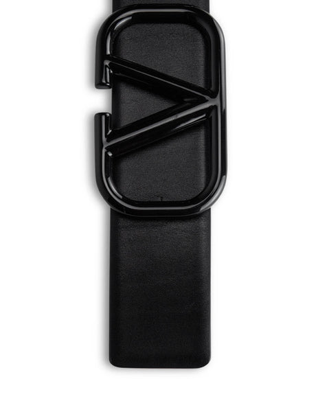 Valentino Men's Black Reversible VLOGO Belt UY0T0Q87UXT70Y