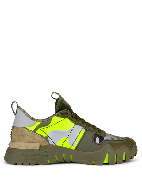 Men's Green Valentino Rockrunner Plus Sneakers TY0S0C88MHB33Z