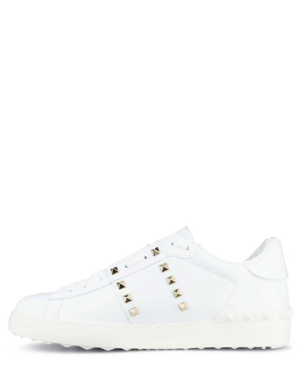 Valentino Men's Giulio Fashion White Rockstud Untitled Sneakers QY2S0931BHS0BO