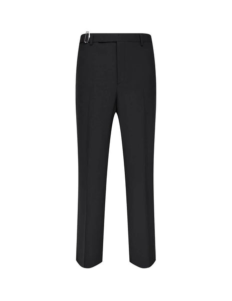 Men's Valentino Tie Waist Trousers in Black - UV0RBF706DP0NO