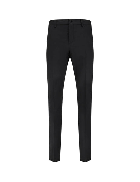 Valentino Men's Giulio Fashion Black Trousers With Ribbons TV3RBD455U8 17V
