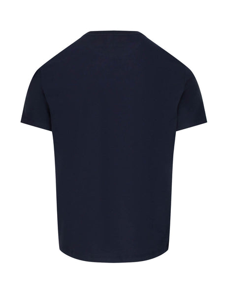Valentino Men's Giulio Fashion Navy V Logo T-Shirt TV3MG02T5F6NB4