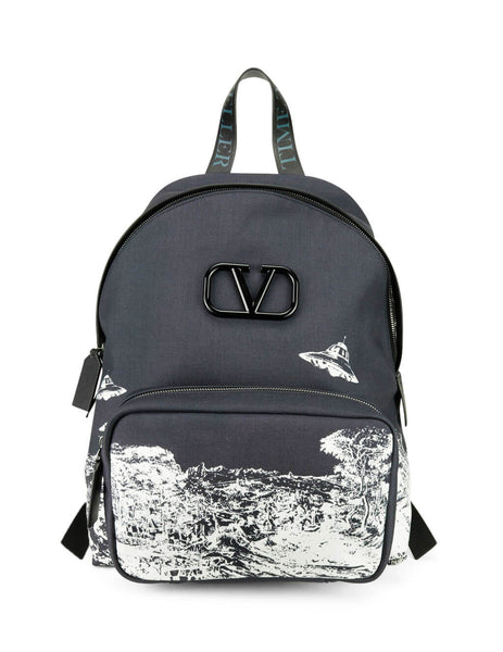 Valentino Men's Giulio Fashion Black VLOGO Backpack SY0B0855ETT0NI