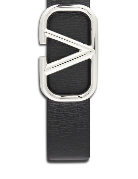 Valentino Men's Giulio Fashion Black VLogo Belt SY2T0Q87SNP0NO