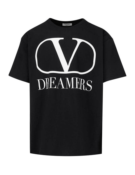 Valentino Men's Giulio Fashion Black VLOGO Dreamers T-Shirt TV0MG06B681 0NI