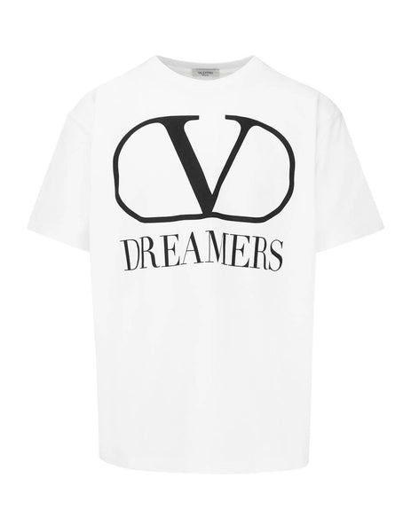 Valentino Men's Giulio Fashion White VLOGO Dreamers T-Shirt TV0MG06B681 A01