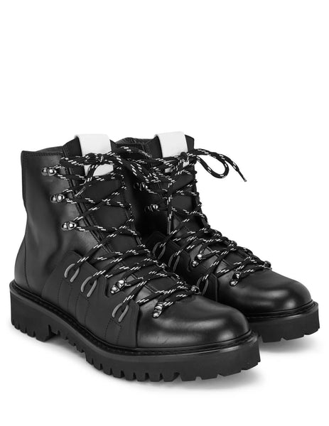 Valentino Men's Giulio Fashion Black VLOGO Hiking Boots SY0S0C66WAQ0NO