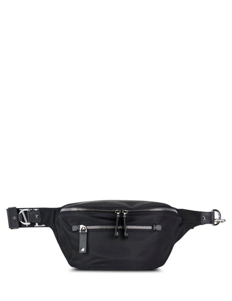 Valentino Men's Black VLTN Belt Bag Black/White sy2b0664rpy0no