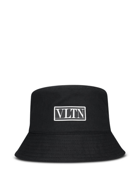 Men's Black Valentino VLTN Cotton Bucket Hat UY2HGA11SVA0NO