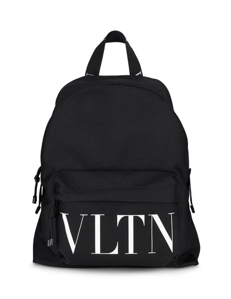 Men's Black Valentino VLTN Nylon Backpack UY2B0993YHS0NI
