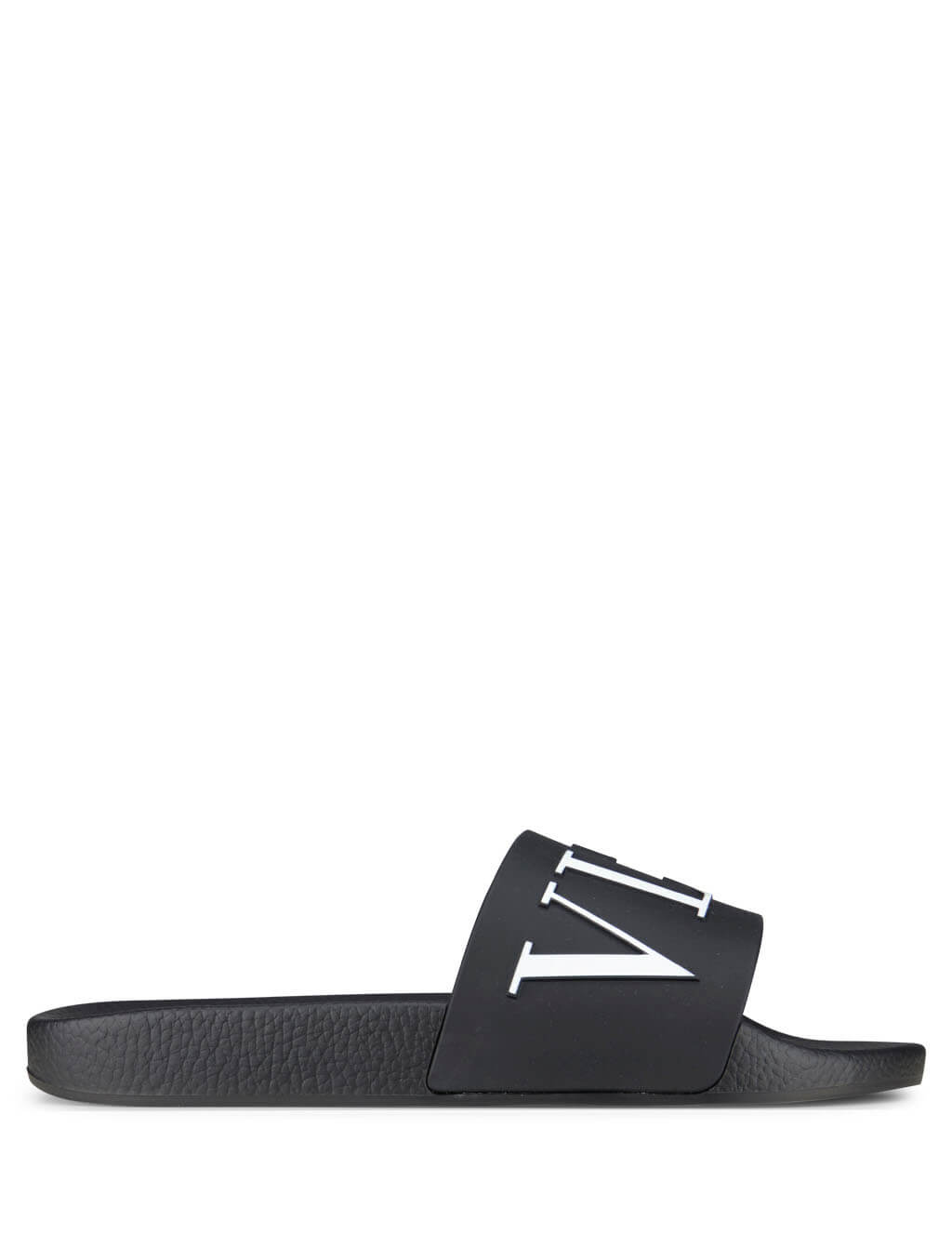 Valentino Men's Giulio Fashion Black/White VLTN Sliders QY2S087SYE0NI