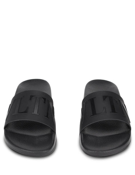 Men's Black Valentino VLTN Sliders UY2S0873DPTN01