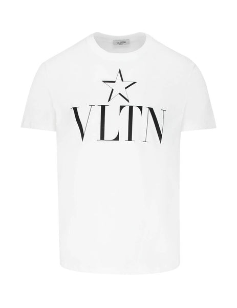 Valentino Men's Giulio Fashion White VLTN Star T-Shirt TV3MG05P638A01