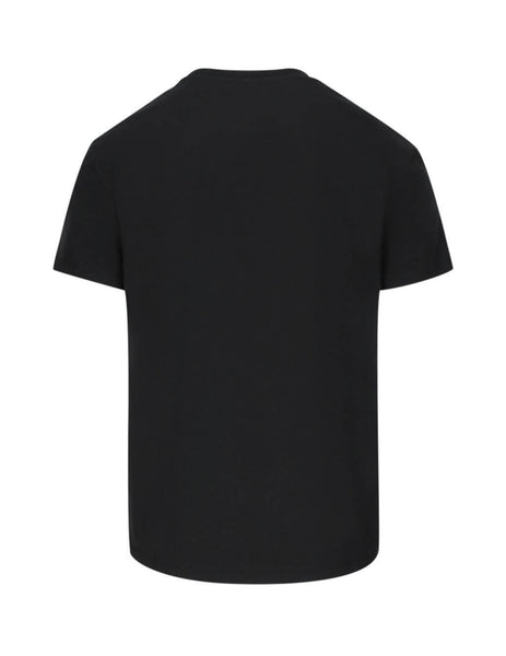 Valentino Men's Giulio Fashion Black VLTN T-Shirt TV3MG10V3LEN01