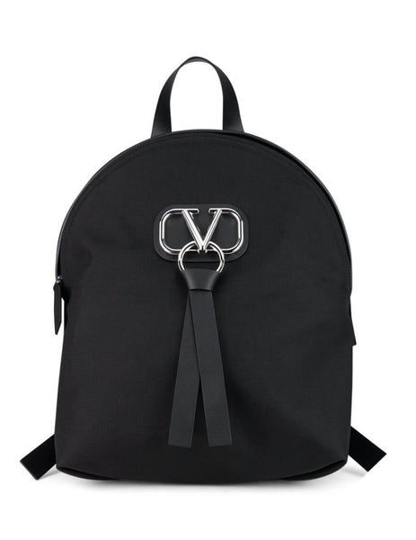 Valentino Men's Giulio Fashion Black VRing Backpack SY2B0839CMV0NO