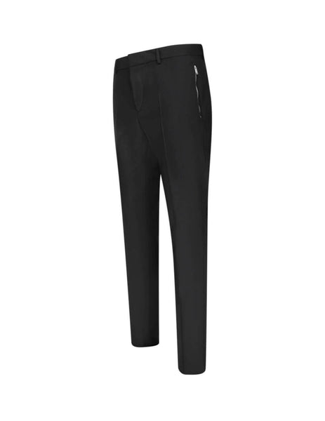 Valentino Men's Giulio Fashion Black Zip Pocket Trousers TV3RB54025S0NO