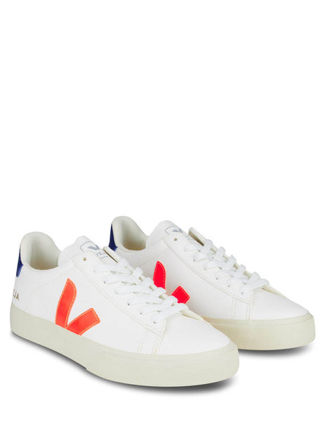 Women's White, Orange and Blue Veja Campo Easy Extra Sneakers CP052195