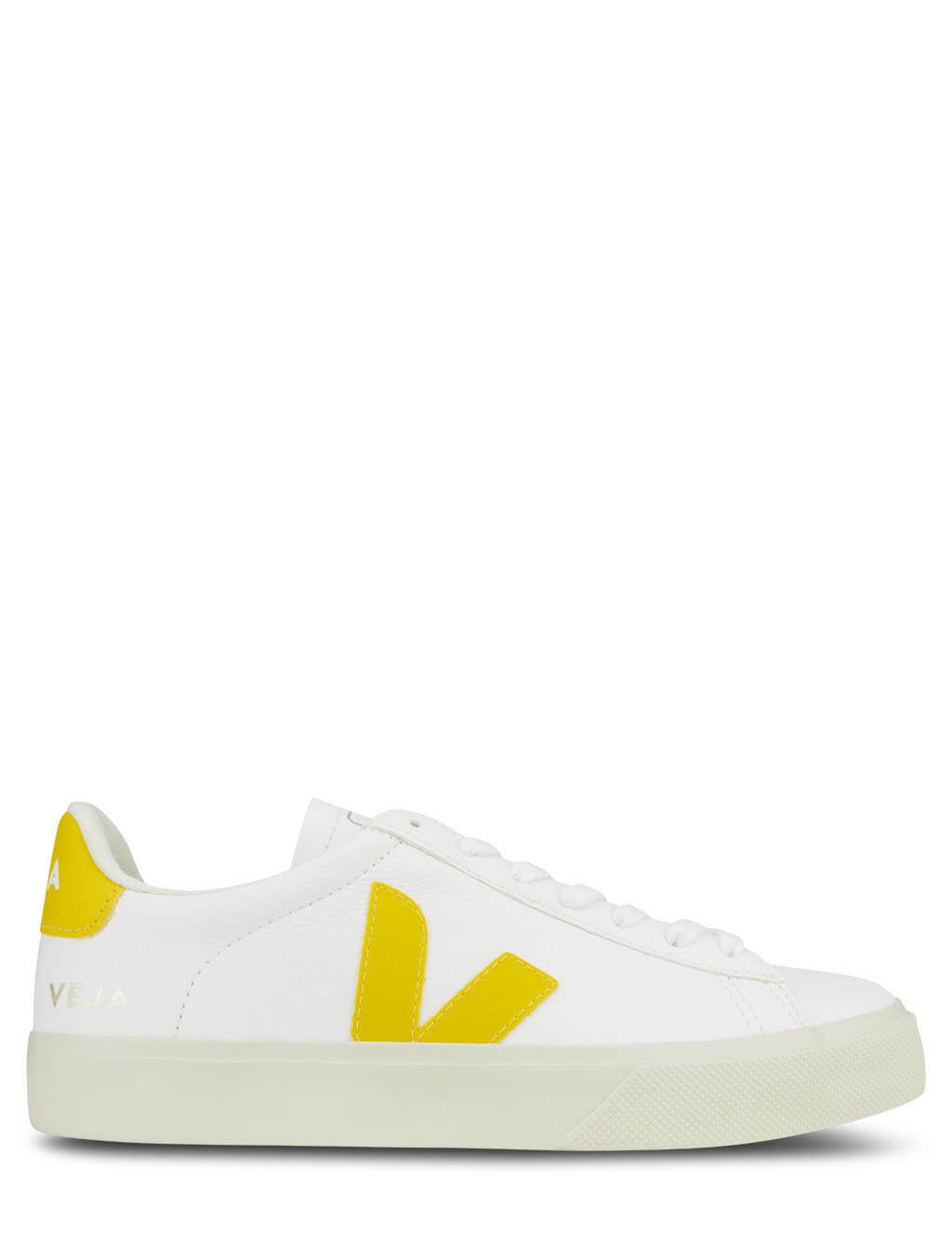 Women's White and Yellow Veja Campo Easy Extra Sneakers CP052290