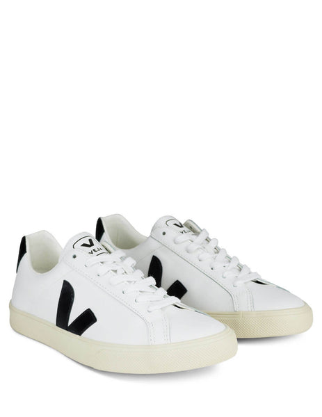 Women's White and Black Veja Esplar Sneakers EO020005