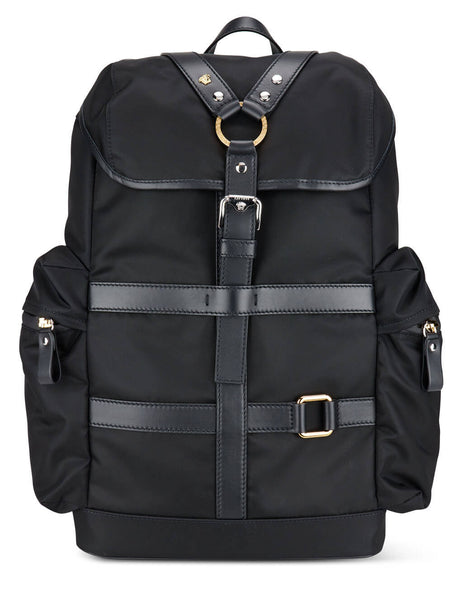 Men's Versace Bondage Backpack in Black/Palladium/Gold - DFZ8474-DNY24-1B00L