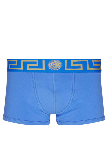 Versace Men's Blue Greca Border Trunks AU10026-A232741-A9X4