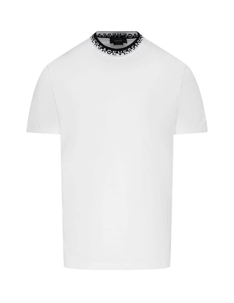 Men's White Versace Logo Collar T-Shirt A87379-A228806_A1001
