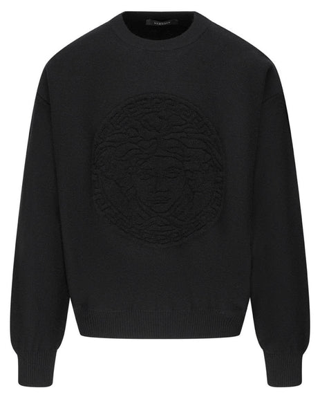 Versace Men's Black Medusa Head Sweater A87561-A236510_A1008