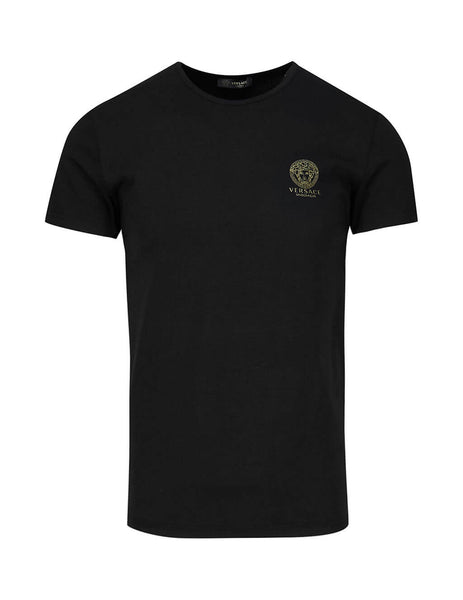 Men's Black Versace Underwear T-Shirt AUU01005-A232741_A1008