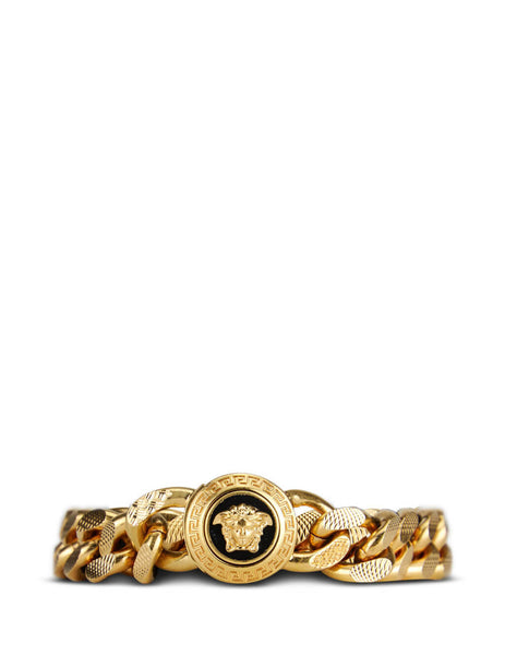 Versace Men's Gold Resin Medusa Chain Bracelet DG06996-DJMS_K41T