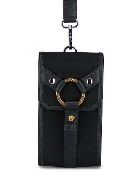 Men's Versace Bondage Phone Pouch in Black - DP88431-DNY24_1B00L