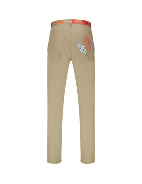 Men's Beige Versace Compilation Trousers A85221-A226391_A1139