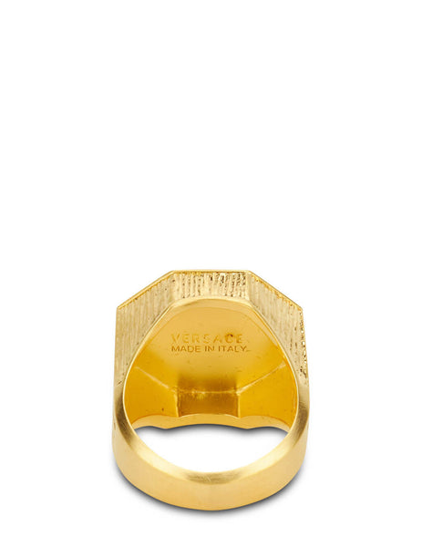 Men's Versace Greca and Medusa Ring in Gold - DG54710-DMT1_D00HS