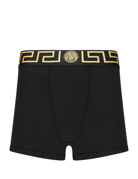 Versace Men's Giulio Fashion Black Greca Border Boxers Bi-Pack AU10192AC00059A80G