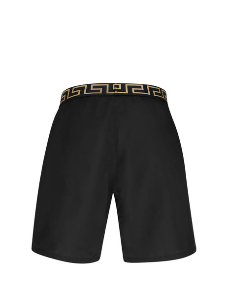 Versace Men's Giulio Fashion Black Greca Swim Shorts ABU01023-A232415_A1008