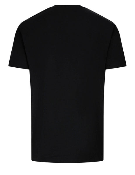 Men's Versace Medusa Embroidered T-Shirt in Black/White - A89287-A228806_A1008