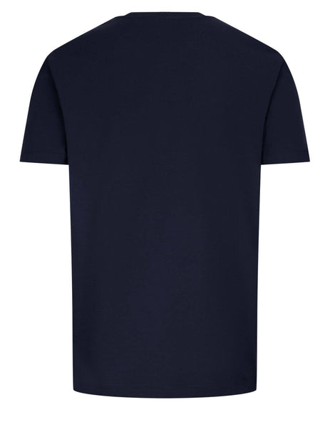 Men's Versace Medusa Embroidered T-Shirt in Blue/Red - A89287-A228806_A1382