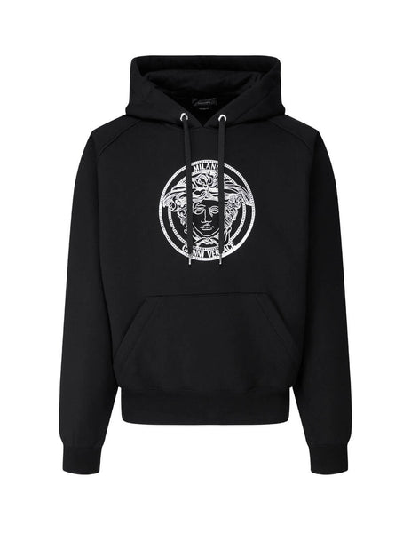 Men's Versace Medusa Print Hoodie in Black. A87475-A229724_A1008