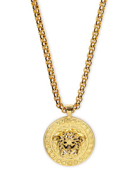 Men's Versace Medusa Necklace in Gold - DG14703-DMT1_D00O